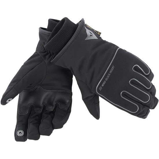 DAINESE Plaza D-Dry Black Gloves