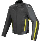 DAINESE Super Speed D-Dry Black / Dark Gull Gray / Fluo