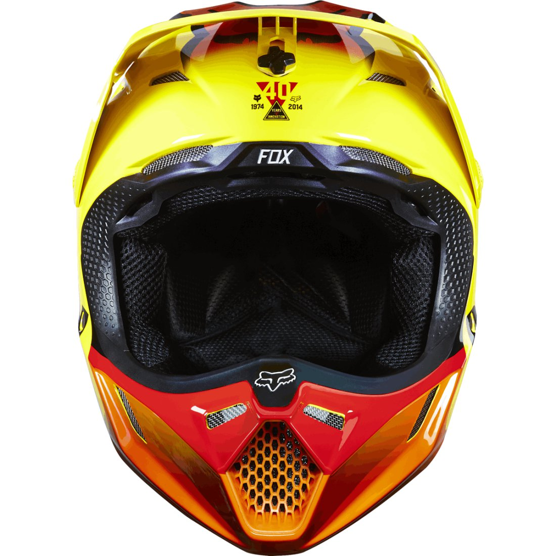 casque fox v3 40 years 2015 y limited edition motocard. Black Bedroom Furniture Sets. Home Design Ideas