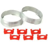 MAVIC Tracomp rings & Clips Silver / Red