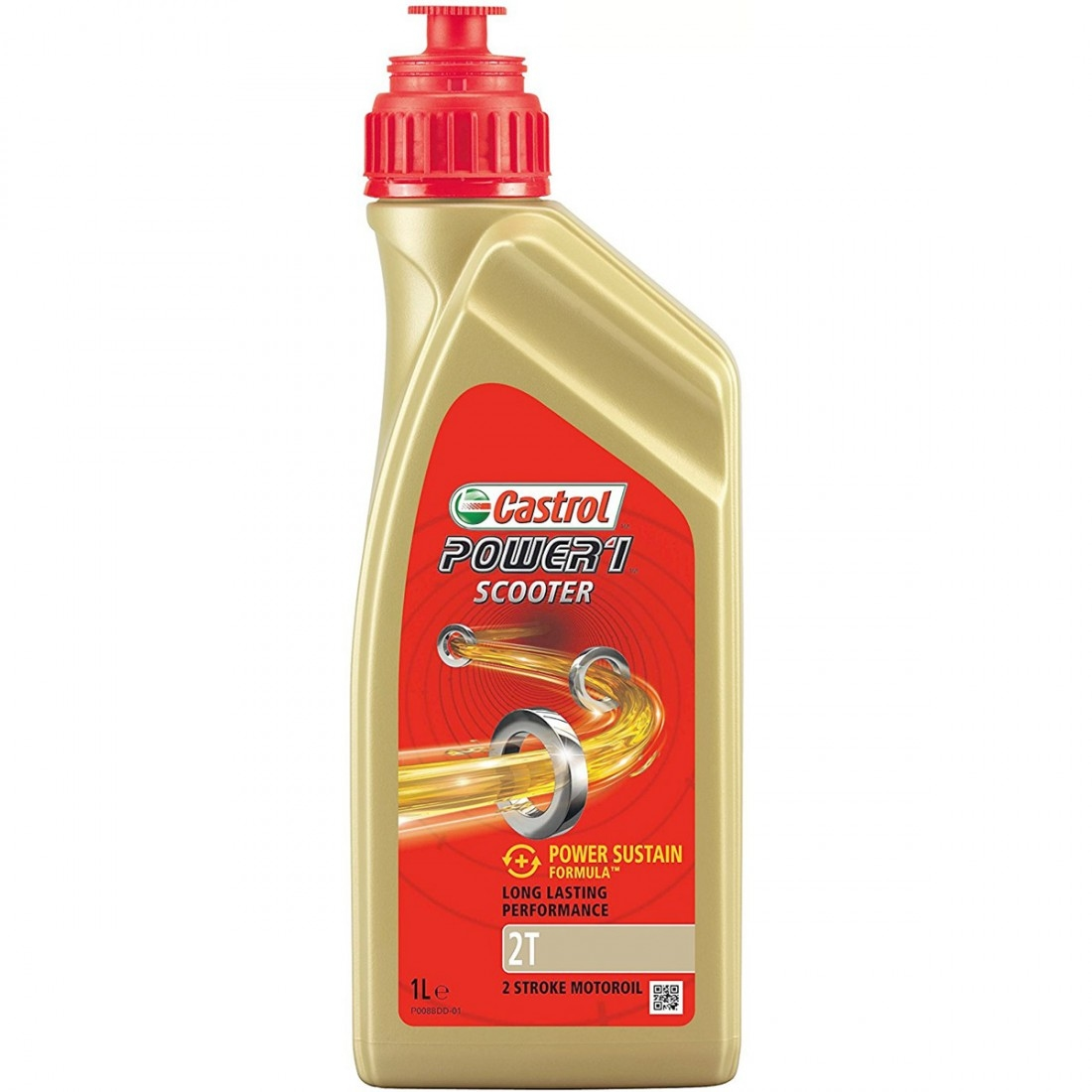 olio e spay castrol power 1 scooter 2t 1l motocard