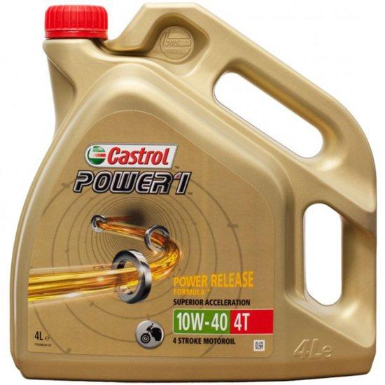 Óleos e spray CASTROL Power 1 4T 4L 10W-40