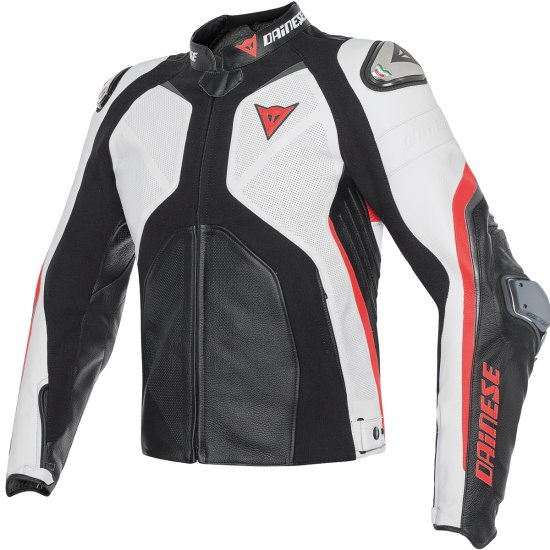 Chaqueta DAINESE Super Rider Black / White / Fluo-Red