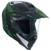 AGV AX-8 Dual Carbon Namib Carbon Silver / Military Green