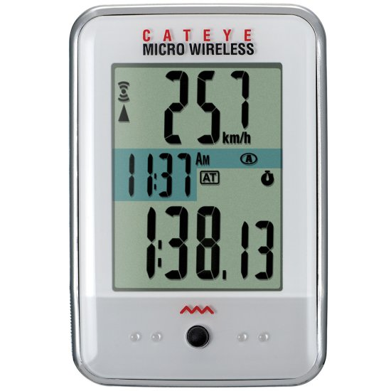 Compteur vélo CATEYE Micro Wireless White