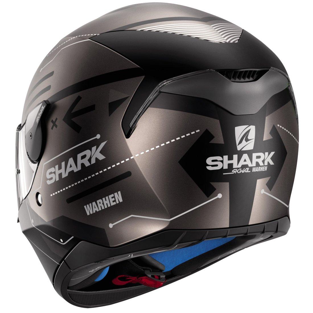 casque shark skwal warhen mat black anthracite black motocard. Black Bedroom Furniture Sets. Home Design Ideas