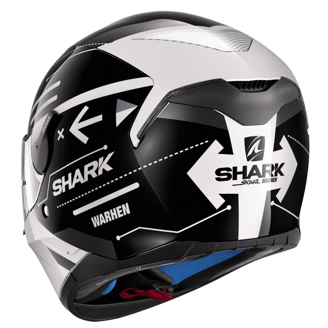 casque shark skwal warhen white black white motocard. Black Bedroom Furniture Sets. Home Design Ideas
