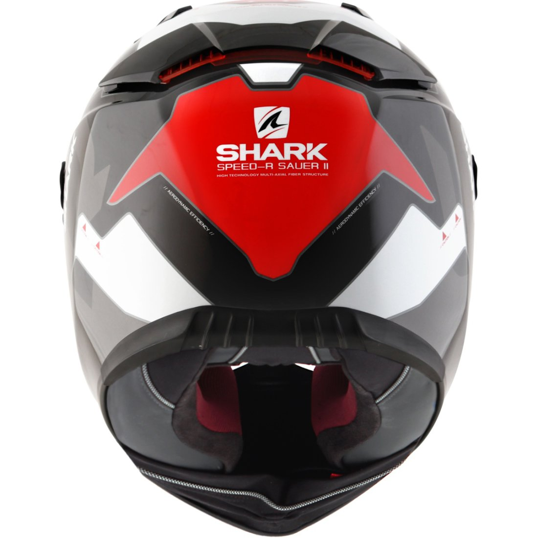 helmet shark speed r series2 sauer ii black red white motocard. Black Bedroom Furniture Sets. Home Design Ideas