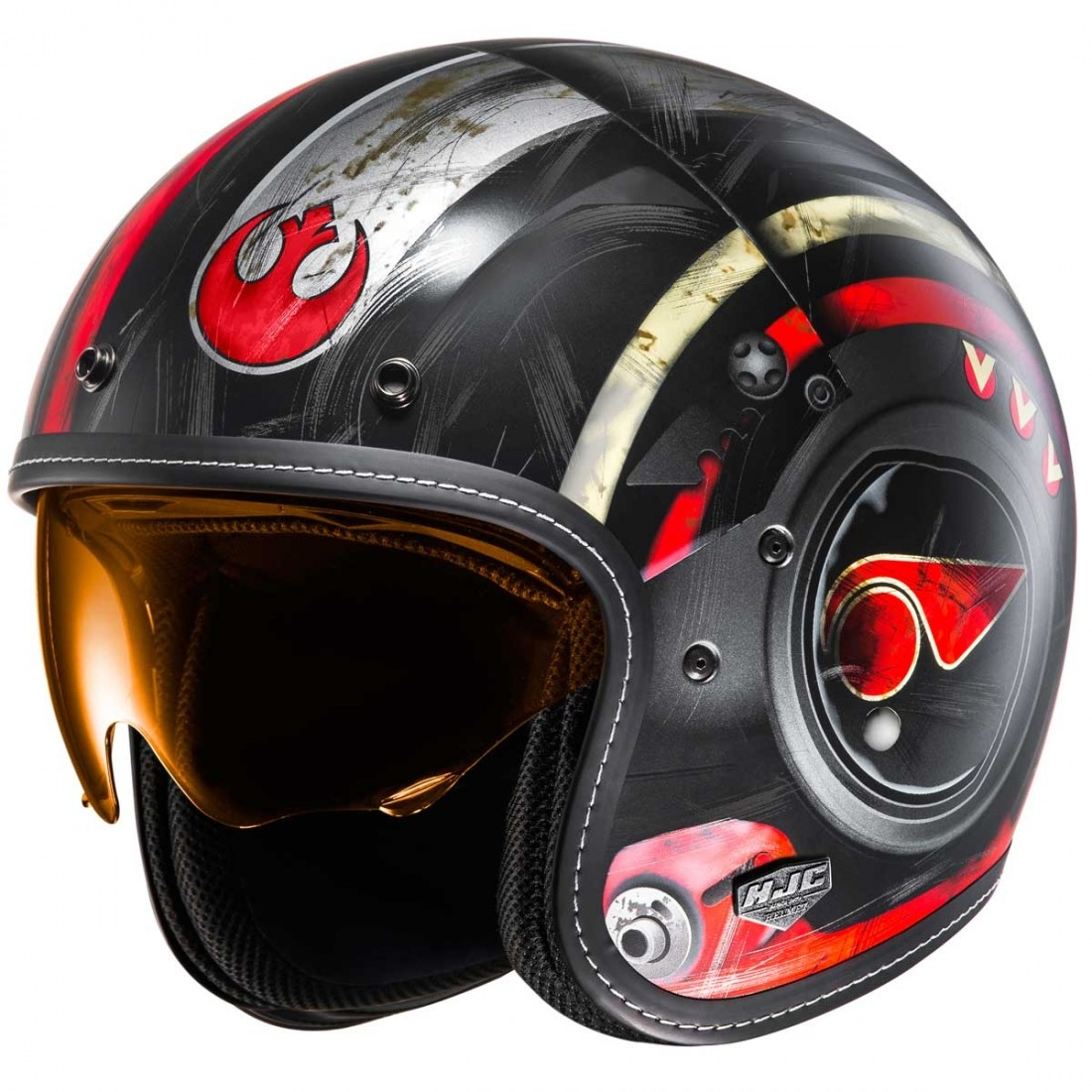 hjc fg 70s poe dameron star wars mc 1sf helmet motocard. Black Bedroom Furniture Sets. Home Design Ideas