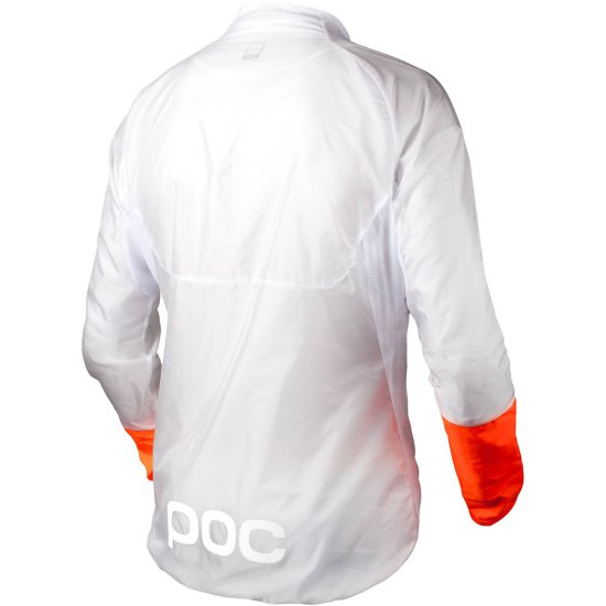 Casaco POC Essential AVIP Light Wind Hydrogen White / Zink Orange