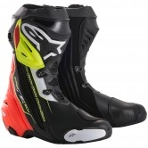 ALPINESTARS Supertech-R Black / Red / Yellow Fluo