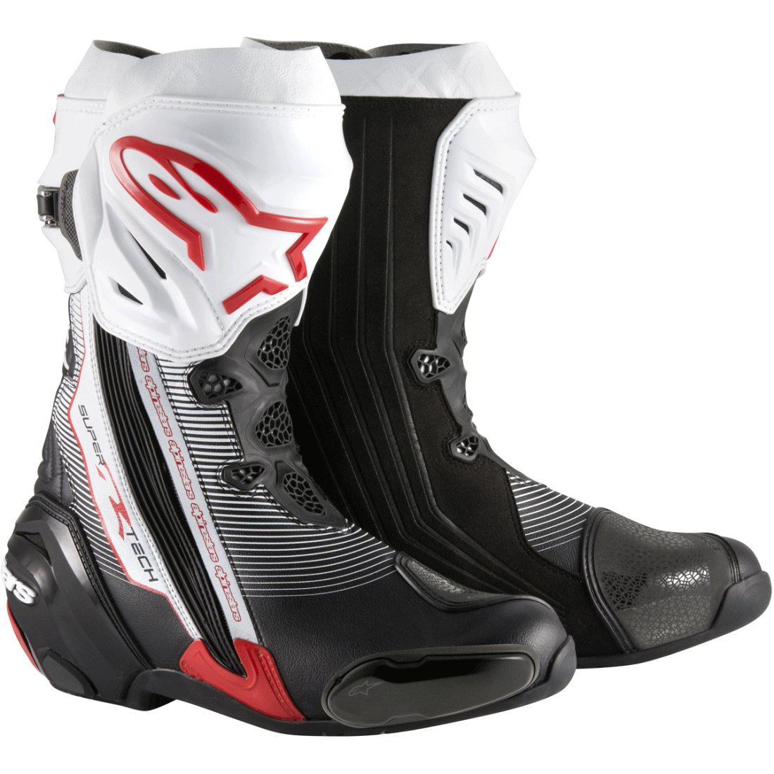 vente en magasin le plus en vogue hot-vente dernier Bottes ALPINESTARS Supertech-R Black / Red / White