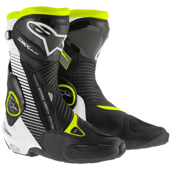 Botas ALPINESTARS S-MX Plus Black / White / Yellow Fluo