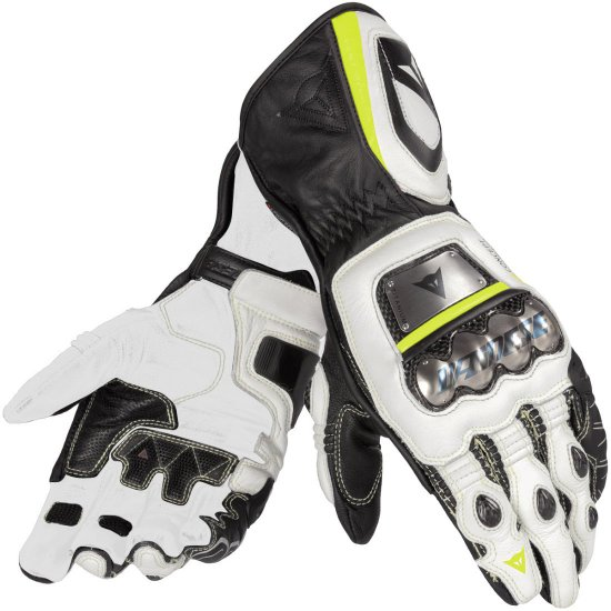 Guantes DAINESE Full Metal D1 Black / White / Yellow fluo