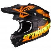 SCORPION VX-15 Evo Air Defender Matt Black / Orange