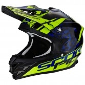 SCORPION VX-15 Evo Air Kistune Black / Blue / Neon Yellow