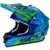 SCORPION VX-15 Evo Air Kistune Blue / Green