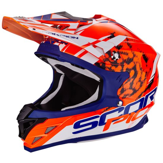 Casco SCORPION VX-15 Evo Air Kitsune Orange / Blue / White