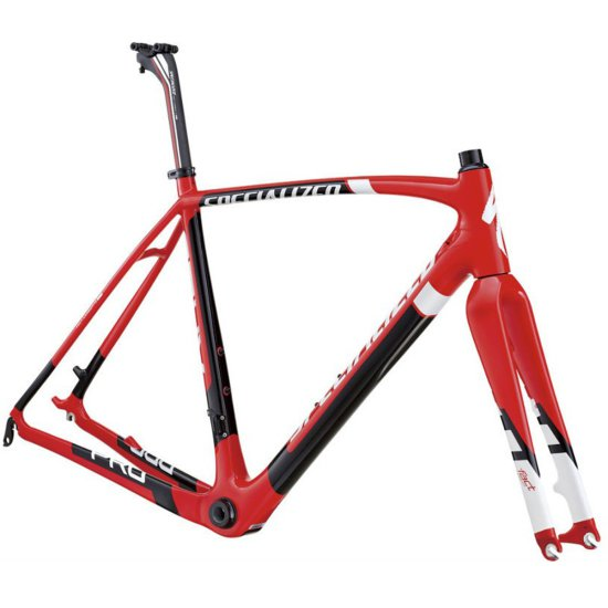 SPECIALIZED Crux Carbon Disc OSBB 2013 Red / Black Bicycle Frame