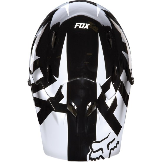 FOX Rampage Race 2016 Black / White Helmet