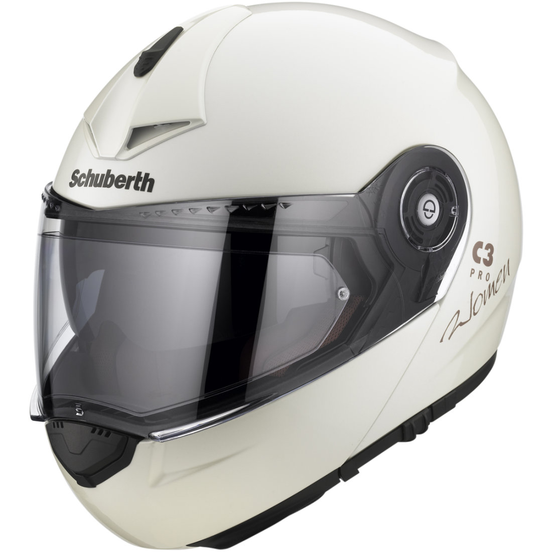schuberth c3 pro lady pearl white helmet motocard. Black Bedroom Furniture Sets. Home Design Ideas