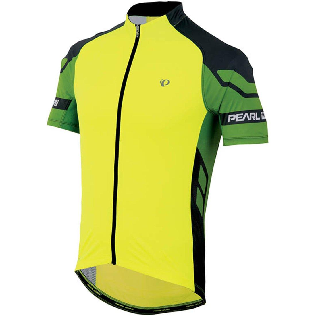 Pearl izumi elite yellow green jersey motocard for Pearl izumi cycling shirt