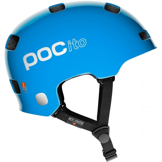 Casque POC POCito Crane Junior Fluorescent Blue