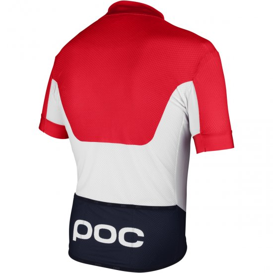 Bike Trikot POC Raceday Climber Bohrium Red / Hydrogen White