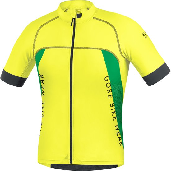 Maillot GORE ALP-X Pro Cadmium Yellow / Fresh Green