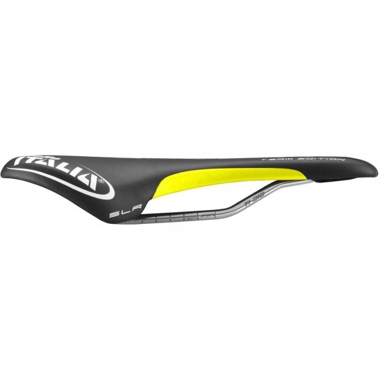 Selles / accessoire SELLE ITALIA SLR Team Edition Flow S2 Black / Yellow