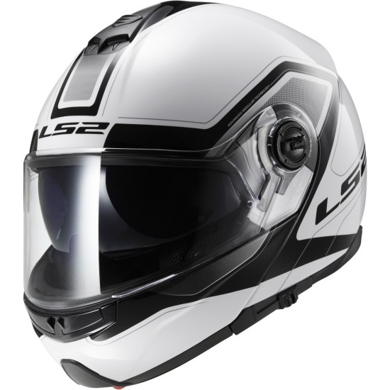 Casco LS2 FF325 Strobe Civik White / Black