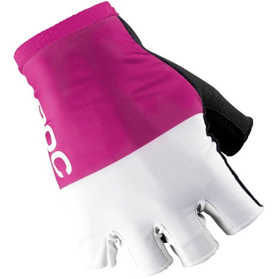 Guantes POC Raceday Fluorescent Pink / Hydrogen White