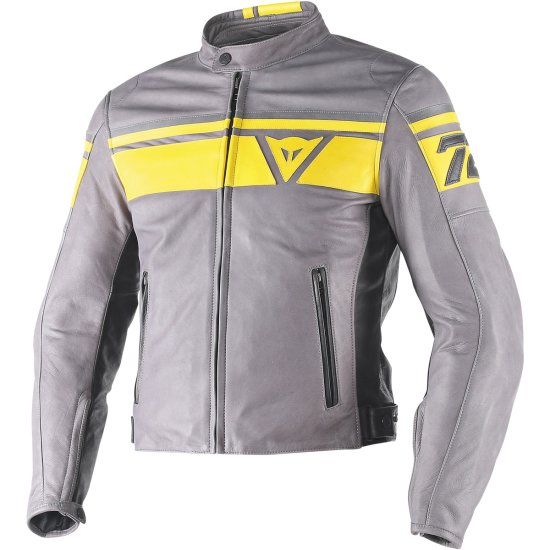 Chaqueta DAINESE Blackjack Smoke / Yellow / Black