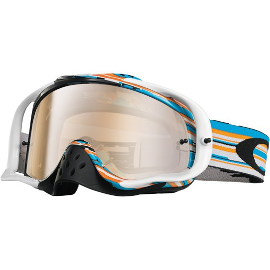 Máscara / Gafas OAKLEY Crowbar MX Glitch Blue / Orange Iridium