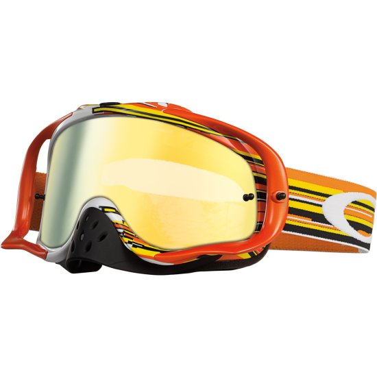 Gafas OAKLEY Crowbar MX Glitch Orange / Yellow 24K Iridium