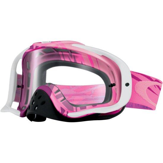 Lunettes OAKLEY Crowbar MX Razorwire Pink / Rose Clear