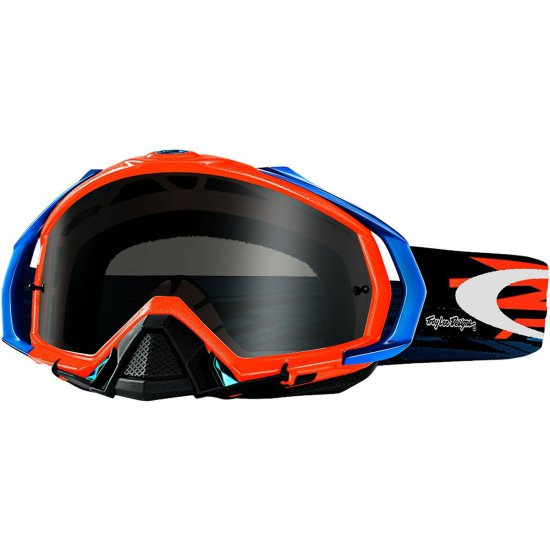 Máscara / Gafas OAKLEY Mayhem Pro MX Troy Lee Designs Zap Orange Dark Grey