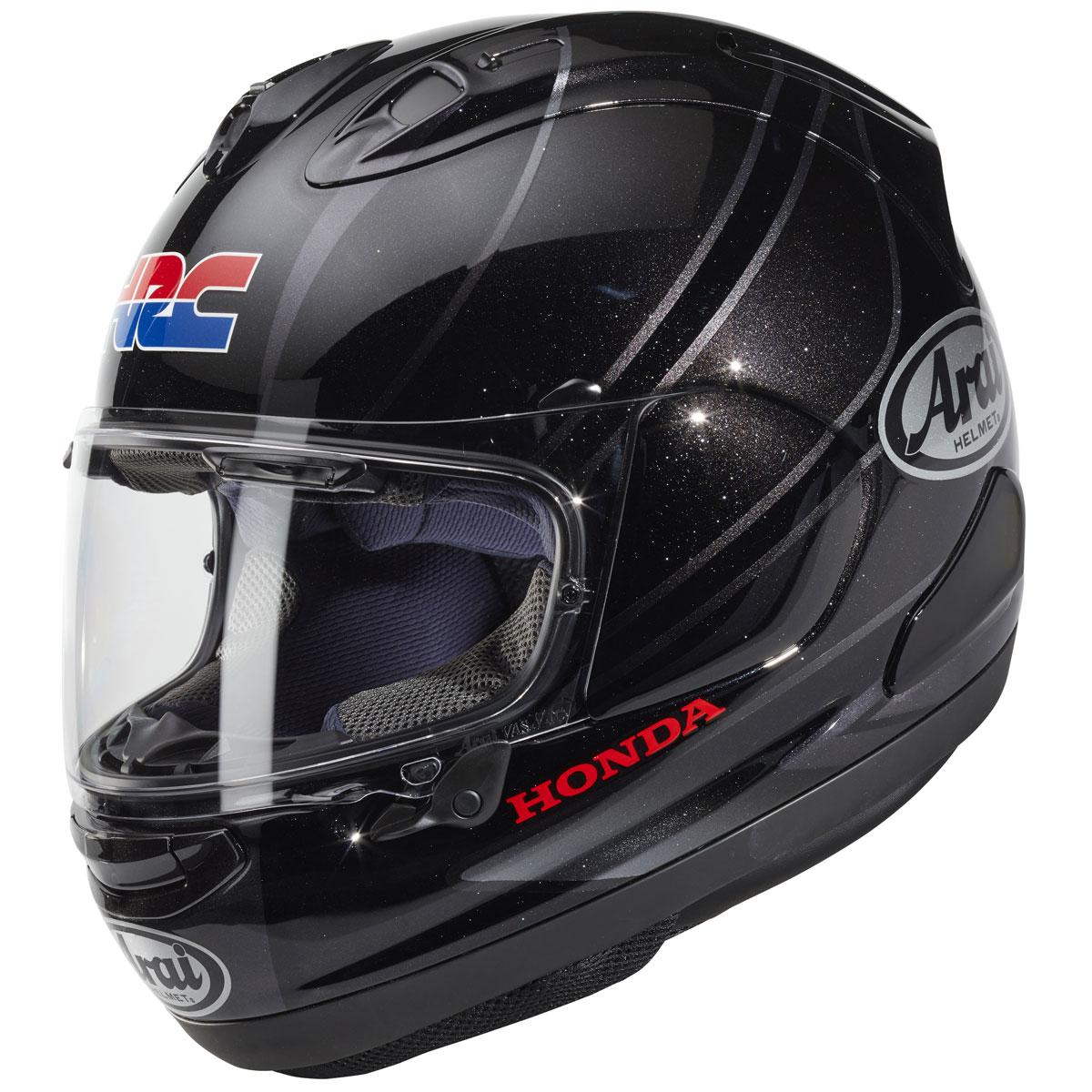 Casco ARAI RX-7V Honda HRC GP Silver