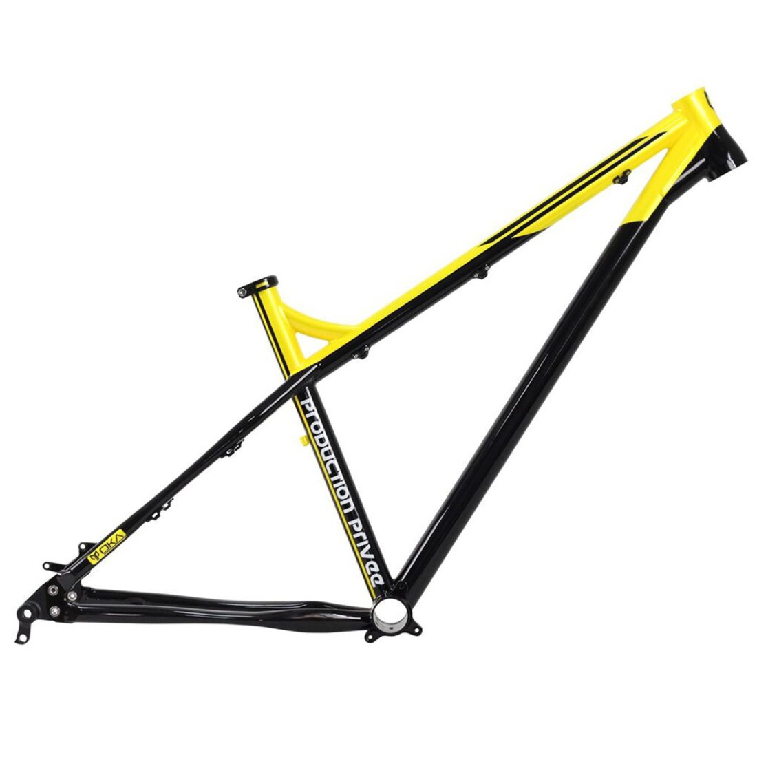 Fahrradrahmen PRODUCTION PRIVEE Oka Yellow Limited Edition 27.5 ...