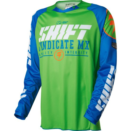 Camiseta SHIFT Strike 2016 Blue / Green
