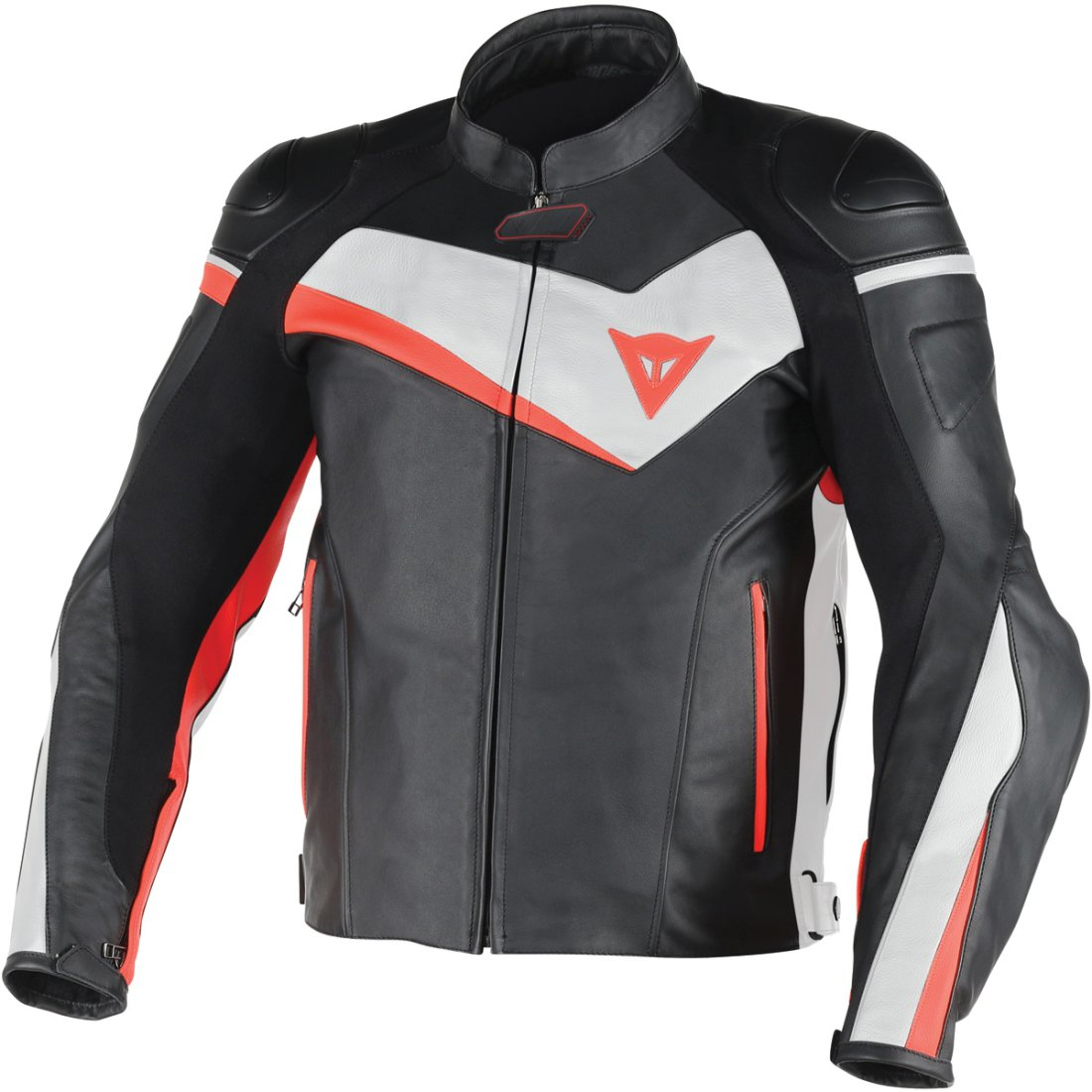 DAINESE Veloster Black / White / Fluo-Red Jacket