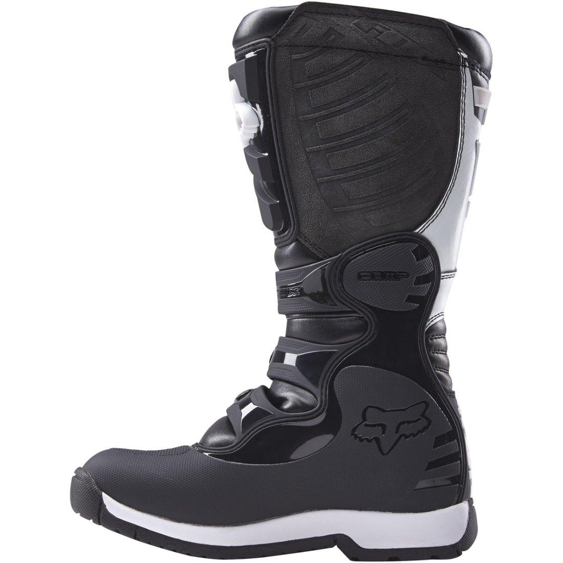 fox comp 5 lady black white boots motocard. Black Bedroom Furniture Sets. Home Design Ideas