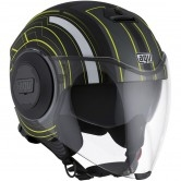 AGV Fluid Chicago Matt Black / Yellow