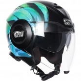 AGV Fluid Kew Matt Black / Lime / Aqua