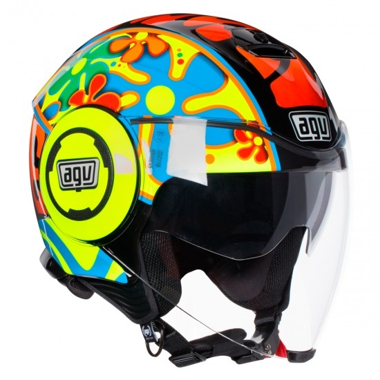 casque agv fluid rossi valencia 2003 motocard. Black Bedroom Furniture Sets. Home Design Ideas
