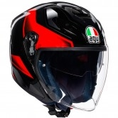 AGV K-5 Jet Roket Black / Grey / Red