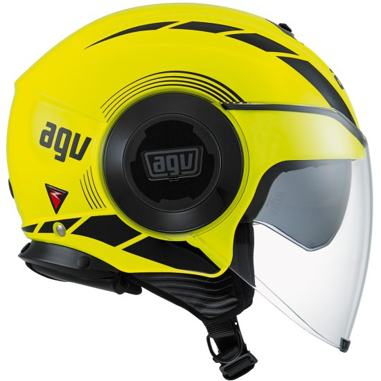 Casco AGV Fluid Equalizer Yellow Fluo / Black