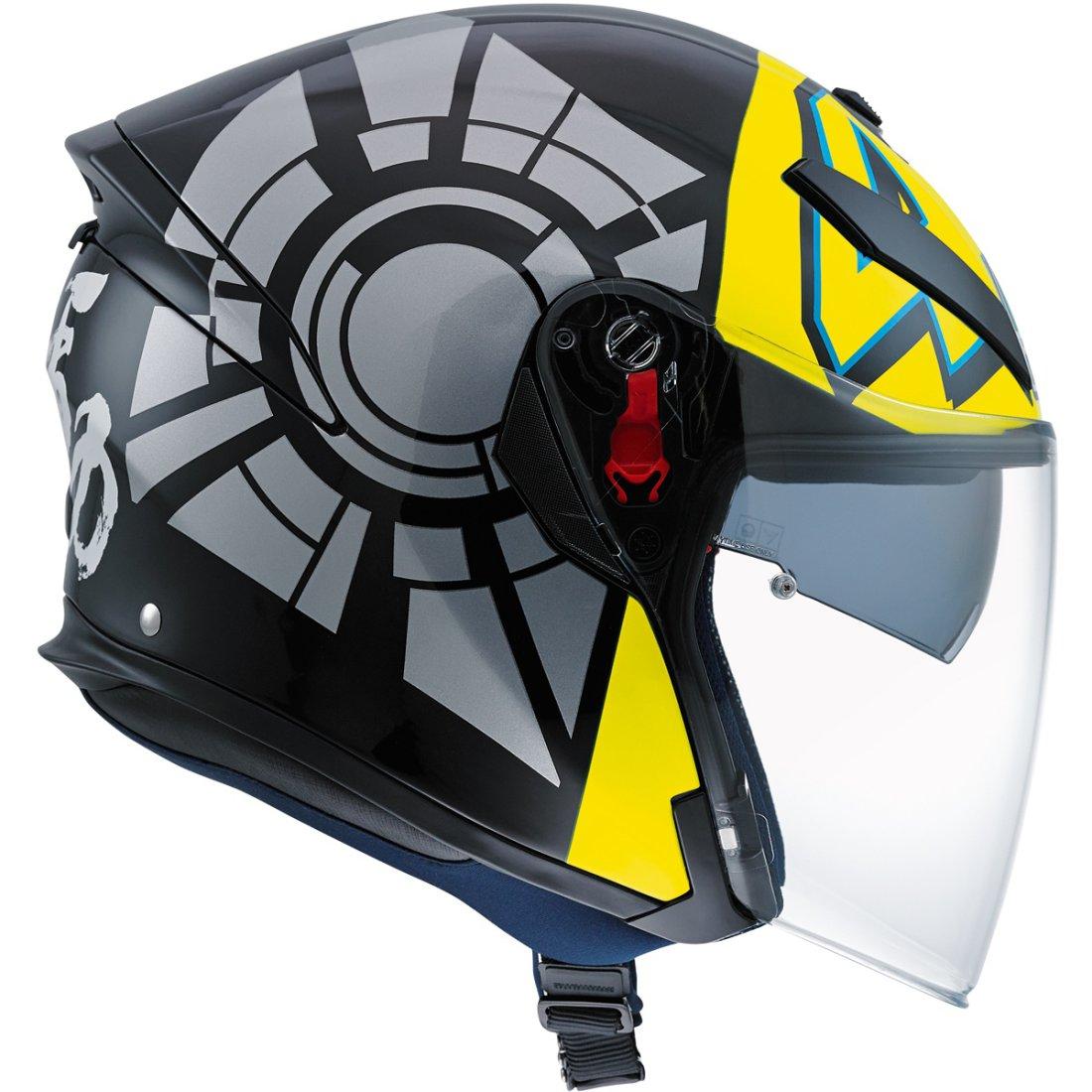 casco agv k 5 jet rossi winter test 2012 motocard. Black Bedroom Furniture Sets. Home Design Ideas
