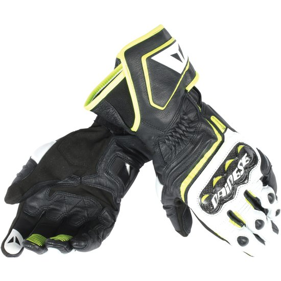 Handschuh DAINESE Carbon D1 Long Black / White / Yellow Fluo