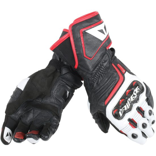 Guantes DAINESE Carbon D1 Long Black / White / Lava Red